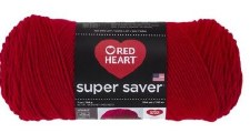 Red Heart Super Saver Yarn- Cherry Red