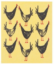 Swedish Dishcloth- Chicken Scratch