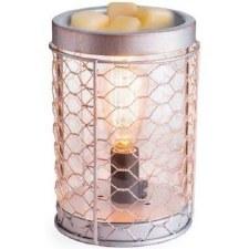 Illumination Fragrance Warmer w/ Edison Bulb- Chicken Wire