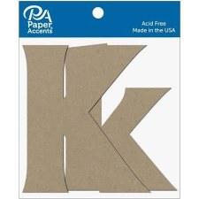 """4"""" Chipboard Letter, 2pk- Kk"""
