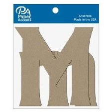 "4"" Chipboard Letter, 2pk- Mm"