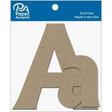 "4"" Chipboard Letter, 2pk- Aa"