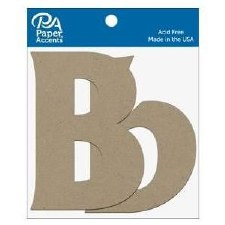 "4"" Chipboard Letter, 2pk- Bb"