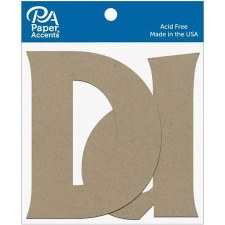 "4"" Chipboard Letter, 2pk- Dd"