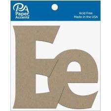 """4"""" Chipboard Letter, 2pk- Ee"""