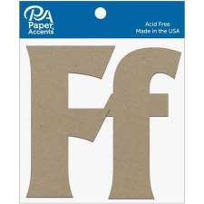 "4"" Chipboard Letter, 2pk- Ff"