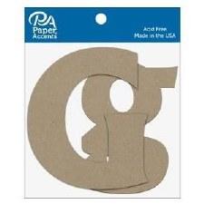 "4"" Chipboard Letter, 2pk- Gg"