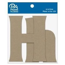 "4"" Chipboard Letter, 2pk- Hh"