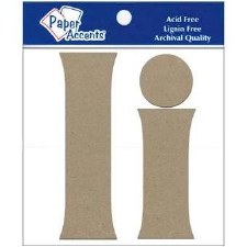 "4"" Chipboard Letter, 2pk- Ii"