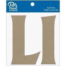 """4"""" Chipboard Letter, 2pk- Ll"""
