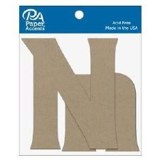 "4"" Chipboard Letter, 2pk- Nn"