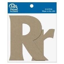 """4"""" Chipboard Letter, 2pk- Rr"""