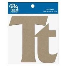 """4"""" Chipboard Letter, 2pk- Tt"""