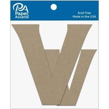 "4"" Chipboard Letter, 2pk- Vv"