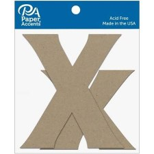 "4"" Chipboard Letter, 2pk- Xx"