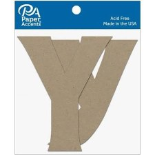 """4"""" Chipboard Letter, 2pk- Yy"""