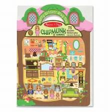 Melissa & Doug Reusable Puffy Sticker Kit- Chipmunk House