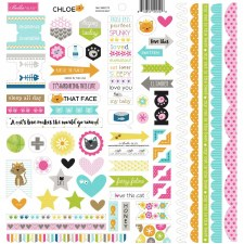 Chloe Doohickey 12x12 Stickers