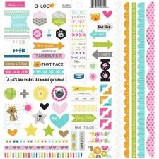 Chloe Doohickey 12x12 Stickers
