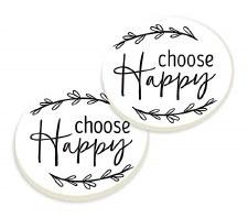 Car Coasters, 2pk- Choose Happy