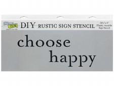"""DIY Rustic Sign Stencil, 16.5""""x6""""- Choose Happy"""