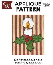 Applique Pattern- Christmas Candle