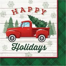Christmas Truck Lunch Napkins - 16ct.