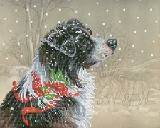 Diamond Facet Art Kit- Christmas Collie