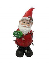 Christmas Gnome Figurine with Color Changing Lights