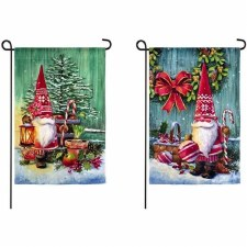 Holiday Garden Flag- Christmas Gnomes