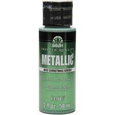 FolkArt 2 Oz. Metallic Acrylic Paint- Christmas Green