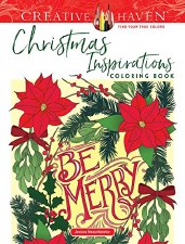 Creative Haven Adult Coloring Book- Christmas Inspirations