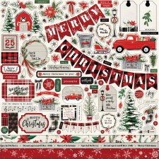 Christmas Market 12x12 Sticker