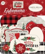 Christmas Market Ephemera Die Cuts
