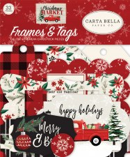 Christmas Market Ephemera Die Cuts- Frames & Tags