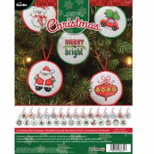 Bucilla Counted Cross Stitch Ornament Kit- Christmas Minis