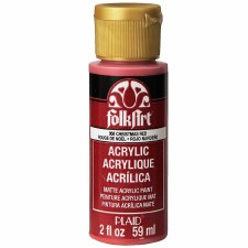 FolkArt 2 Oz. Acrylic Paint- Christmas Red