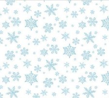 Christmas Woodland Fabric- Snowflake