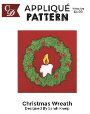 Applique Pattern- Christmas Wreath