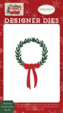 Christmas Market Designer Dies- Christmas Wreath & Bow