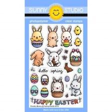 Sunny Studio Chubby Bunny Clear Stamp