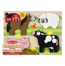 Melissa & Doug Chunky Puzzle- Farm Animals