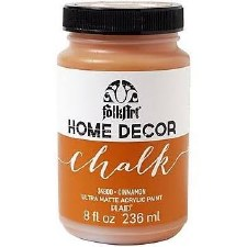 FolkArt Home Decor Chalk Paint 8 oz- Cinnamon