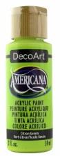Americana Acrylic Paint, 2oz- Greens: Citron Green