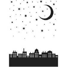 Darice Embossing Folder- City Moon