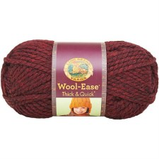 Wool Ease Thick & Quick Yarn- Metallic- Claret