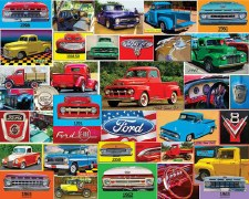 Classic Ford Pickups - 1,000 Piece Puzzle