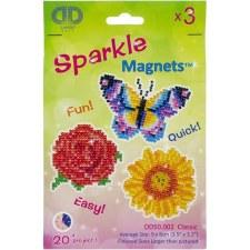 Diamond Facet Art Kit- Sparkle Classic Magnets, 3pk