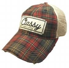Women's Trucker Baseball Cap- Classy but I Cuss