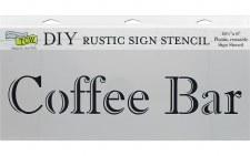 """DIY Rustic Sign Stencil, 16.5""""x6""""- Coffee Bar"""